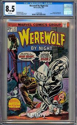 Werewolf By Night 32 CGC Graded 8.5 VF+ White 1st Moon Knight Marvel Comics 1975
