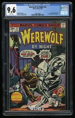 Werewolf By Night #32 CGC NM+ 9.6 White Pages 1st Moon Knight