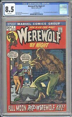 Werewolf by Night #1 CGC 8.5 Nice Centering + White Pages
