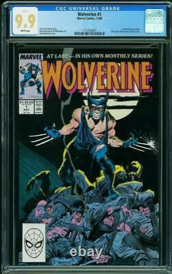 Wolverine #1 Cgc Mint 9.9 White Pages