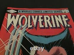 Wolverine #1 Limited Series 9.8 9.9 Nm-mint+ White Pages Ist Solo Wolverine