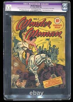 Wonder Woman #1 CGC FA/GD 1.5 Cream To Off White (Restored) Origin Retold