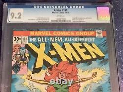 X-Men #101 1976 Marvel Comic CGC 9.2 Origin & 1st Phoenix Newsstand White Pages
