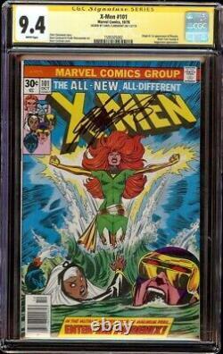 X-Men # 101 CGC 9.4 White SS (Marvel, 1976) 1st app Phoenix, Chris Claremont Sig