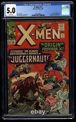 X-Men #12 CGC VG/FN 5.0 White Pages 1st Juggernaut