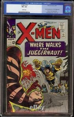 X-Men # 13 CGC 8.5 White (Marvel, 1964) 2nd appearance Juggernaut, looks 9.0+