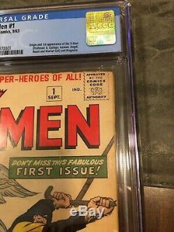 X-Men 1 CGC 2.0 Off-White Pgs. 1st X-Men Magneto 1963 Marvel No Reserve Auction
