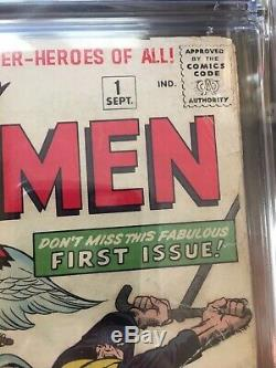 X-Men 1 CGC 2.5 OW To White Pages 1963 1st X-men And Magneto Silver Age Marvel