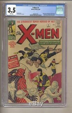 X-Men #1 (CGC 3.5) White pgs Origin/1st app. X-Men and Magneto Kirby (c#27367)