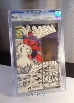 X-Men #25 Black & White Variant (Magneto Holo + Wolverine's adamantium) CGC 9.6