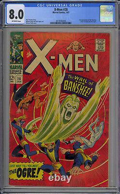 X-Men #28 CGC 8.0 Off-White 1st Banshee