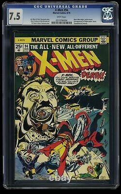X-Men #94 CGC VF- 7.5 White Pages New Team Begins! Marvel Comics
