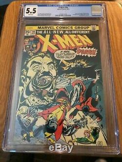 X Men #94 Cgc 5.5 White Pages 2nd App Nightcrawler Storm Colossus Thunderbird