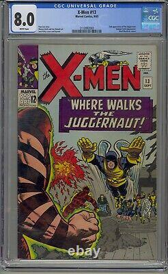 X-men #13 Cgc 8.0 2nd Appearance Juggernaut White Pages