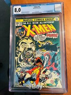X-men #94 Cgc 8.0 New X-men Begin Classic Cover White Pages